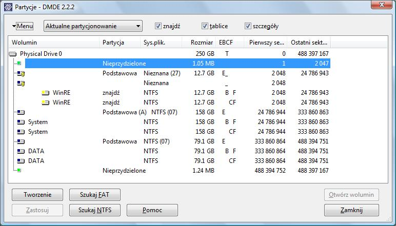 Dost�p do partycji WinRE - Recovery Windows Vista