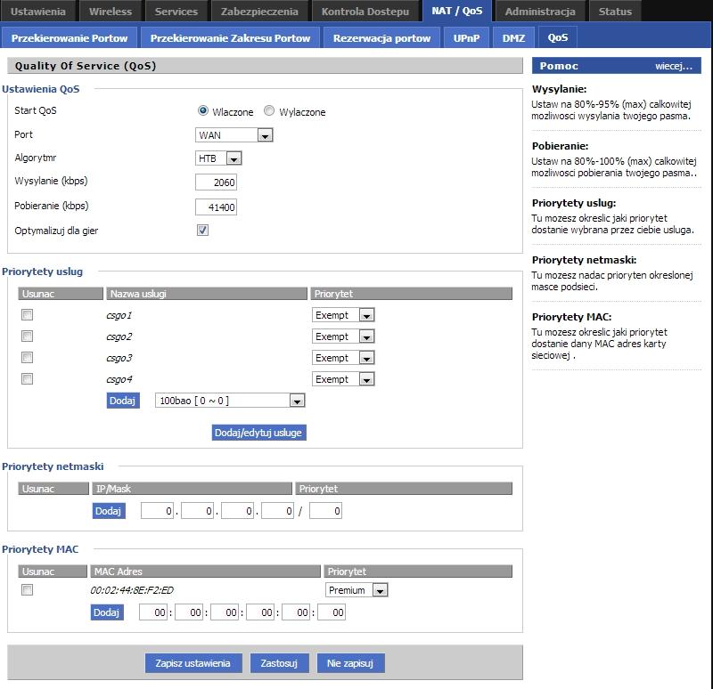 TP-LINK TL-WR740N Ver. 2.1 - QoS albo inne rozwi�zanie na stabilny ping