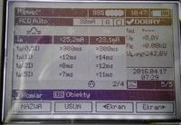 Sonel MPI-530-IT - Pomiary automatyczne RCD - oznaczenie kolumn + i -