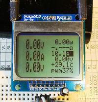Woltomierz, amperomierz i watomierz z wyświetlaczem Nokia5110