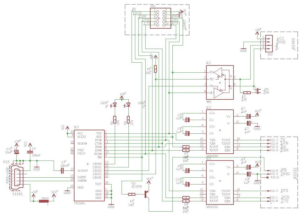 Pro�ba o sprawdzenie schematu USB-UART-RS232-RS485