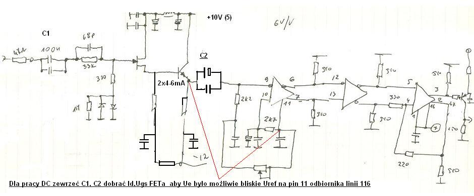 Wzmacniacz 10Hz - 100MHz, uk�ad na scalaku MC10116
