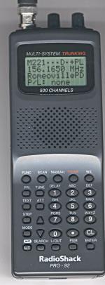 RadioShack PRO-92, PRO92 Instrukcja EN