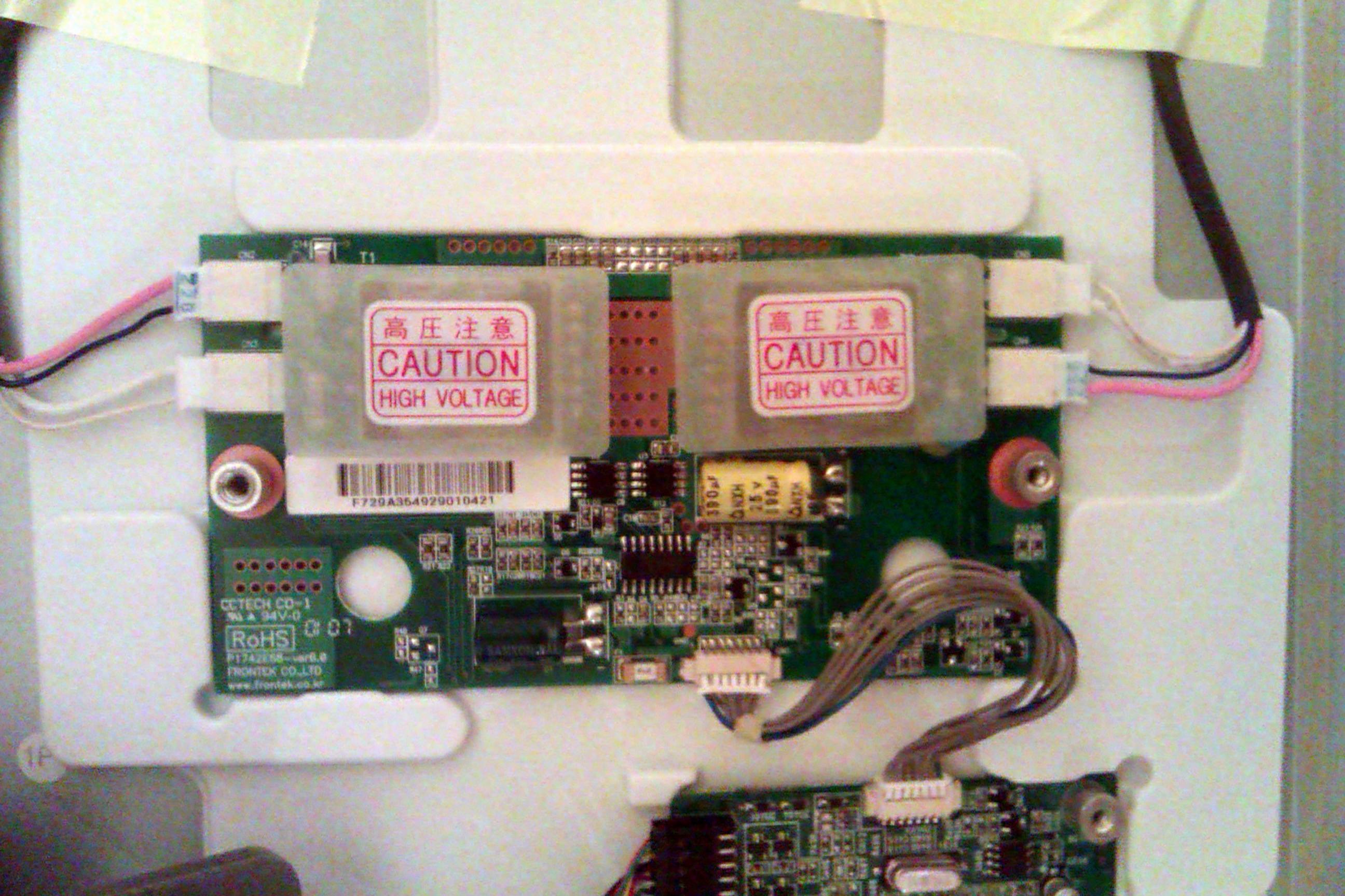 LG Flatron L1770HR - Monitor przesta� dzia�a� po wymianie kondensator�w