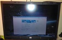 HP 8710p - Niewyrazny obraz. Poziome, niebiesko-czerwone paski