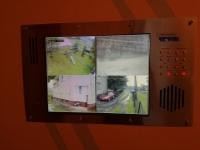 Monitoring CCTV różowe kamery