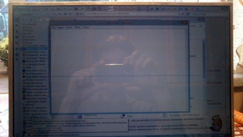 Fujitsu siemens Amilo pi3540 - Pozioma kreska wzd�� matrycy