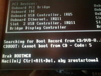 Brak BOOTMGR - Nie mog� zainstalowa� windows 7