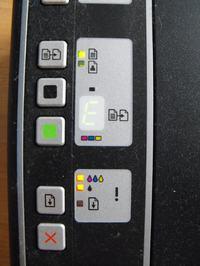 HP f4180 - nowy kartidż, migające diody