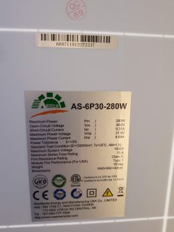 -1 - Co to za panel Amerisolar 280W ?