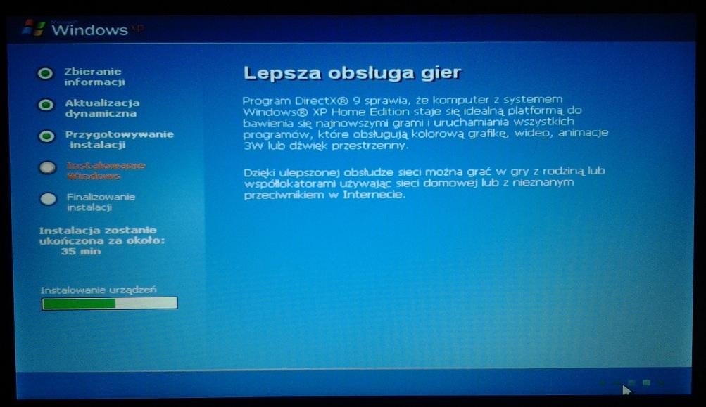 ASUS Eee PC instalacja WinXP
