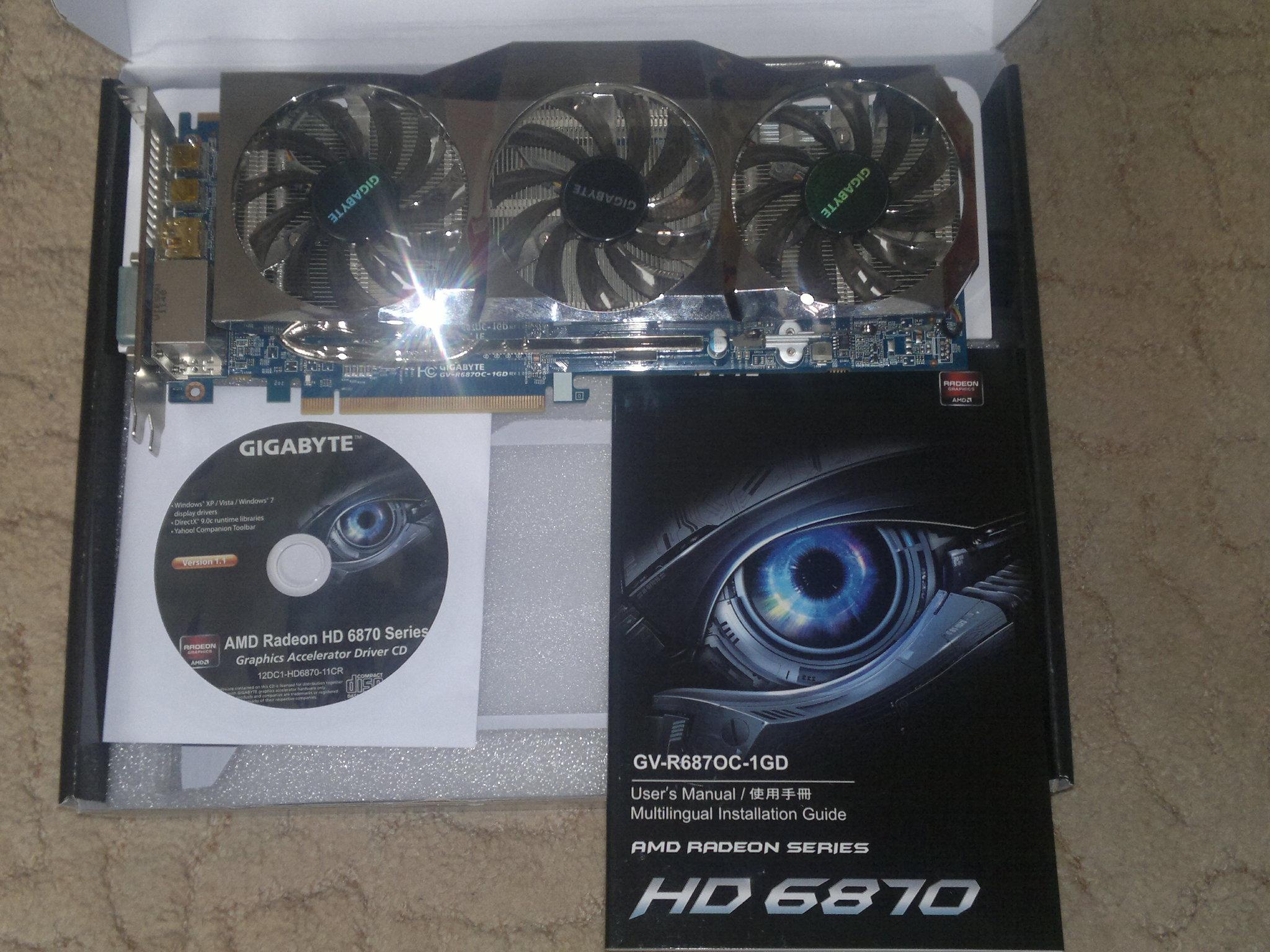 Sprzedam Gigabyte Radeon HD 6870 Super Overclock 14 mies GW