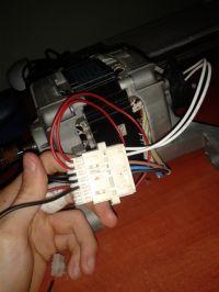 Silnik od pralki - Indesit, podłączenie do sieci 230V