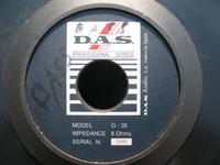 Głośnik D.A.S Audio G35 identyfikacja