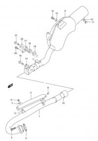 Suzuki dr350 uklad wydechowy - luźna rura przy głowicy.