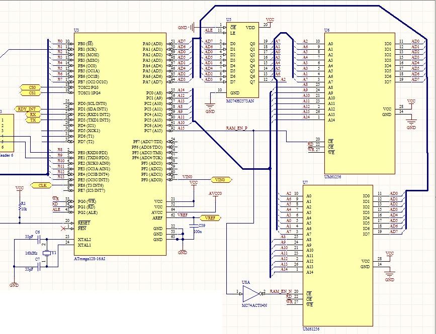 [ATMega128][C/AvrStudio+WinAvr] ATMega128 i  zewn. RAM.