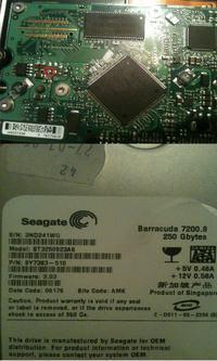 """Seagate Barracuda 7200.8 - Urwana """"kostka"""" z elektroniki"""
