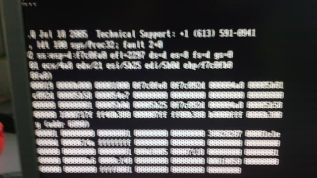LINUX andler faulted - czarny ekran - błąd