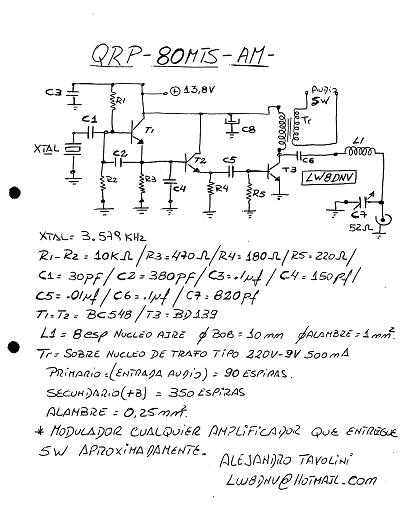 Nadajnik na 3,5 MHz przerobka