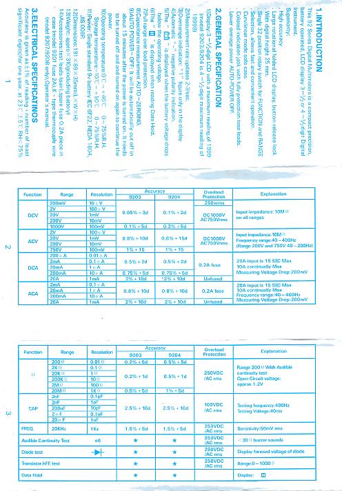 Problem z multimetrem DT9208A+ pomiar częstotliwości.