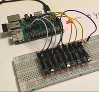 81 termometr�w DS18B20 podpi�tych do Raspberry Pi