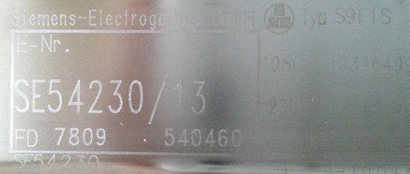 Siemens SE54230/13 - Pobiera wod�, pompa myj�ca nie startuje, b��d: kropka