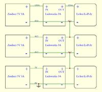 Ładowarka Li-Ion Li-Poly na MCP73833 + PMOSFET, max 3A