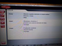 Peugeot 508 1.6 HDI 2011 - Błąd obwód czujnika ciśnienia w rampie paliwa , zwarc