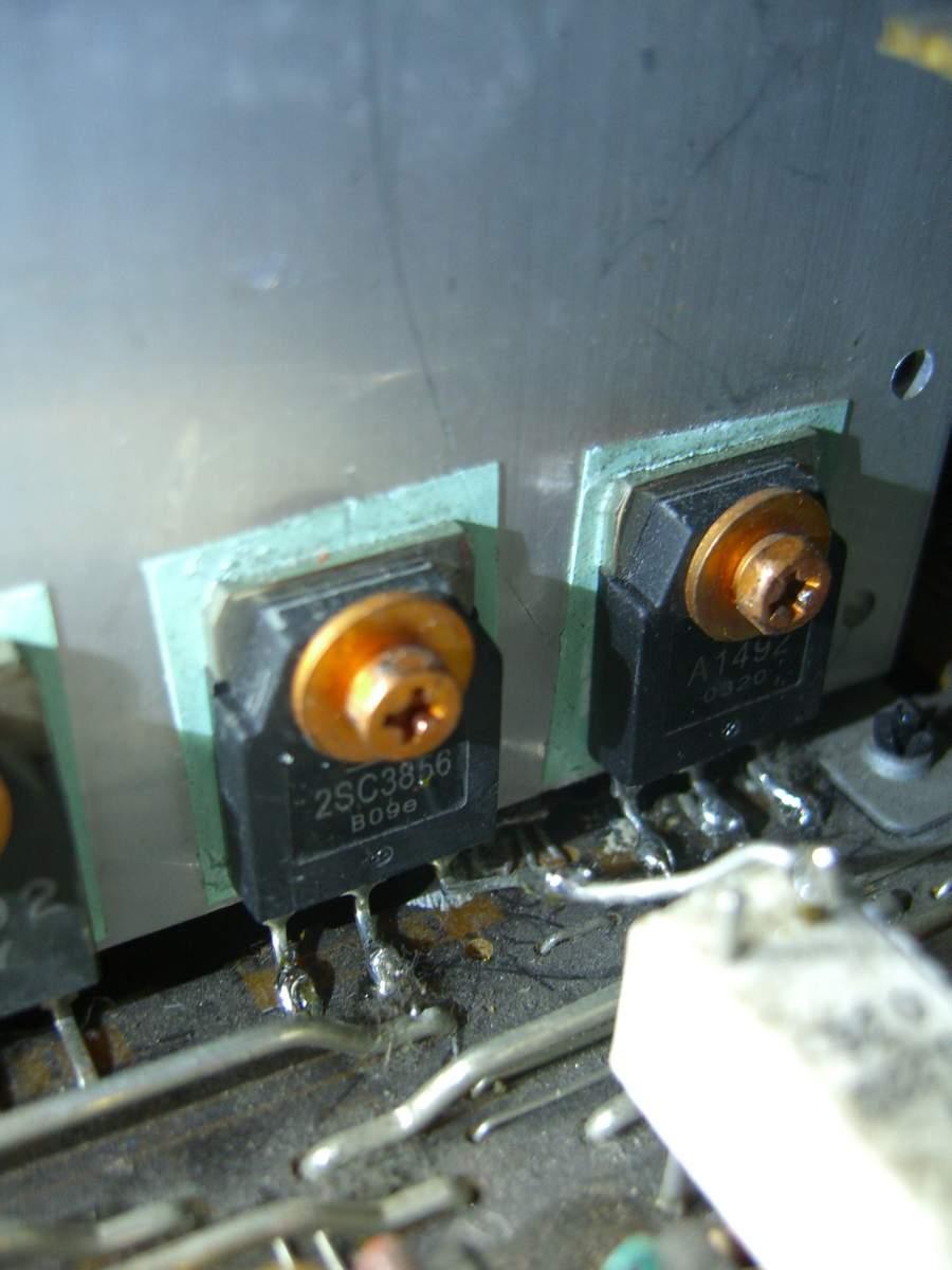 Yamaha RX-V800 - czy dobrze wstawiono zamienniki tranzystor�w