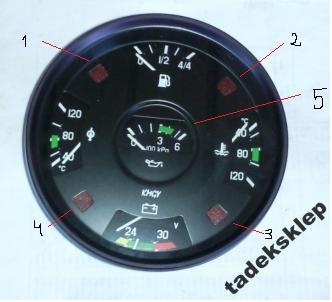 Bizon Z0-56 czerwona kontrolka stop