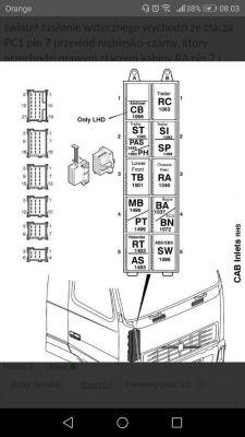 Volvo fh12 - Schemat instalacji ecas