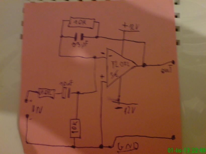 tl072 - przedwzmacniacz w ko�c�wce mocy, jak zwi�kszy� wzmocnienie