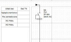 Schemat jednokreskowy rozdzielnicy dla ZE