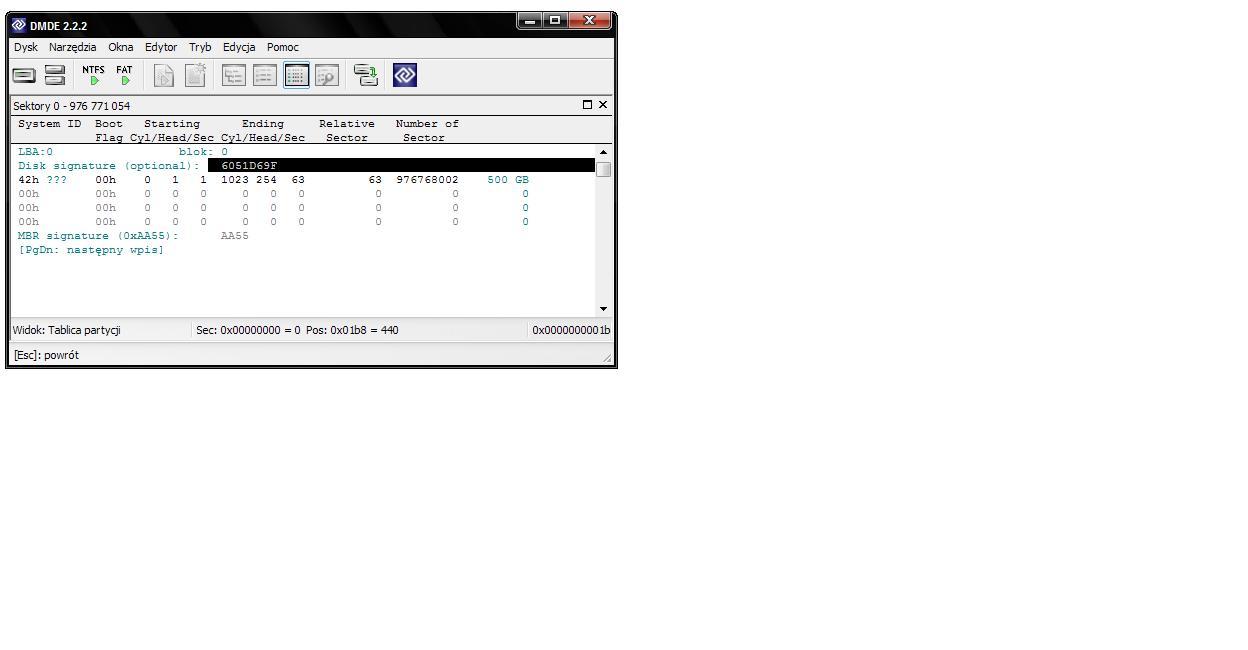 Pad� dysk z Win 7 - drugi HDD --> dynamiczny nieodczytywalny