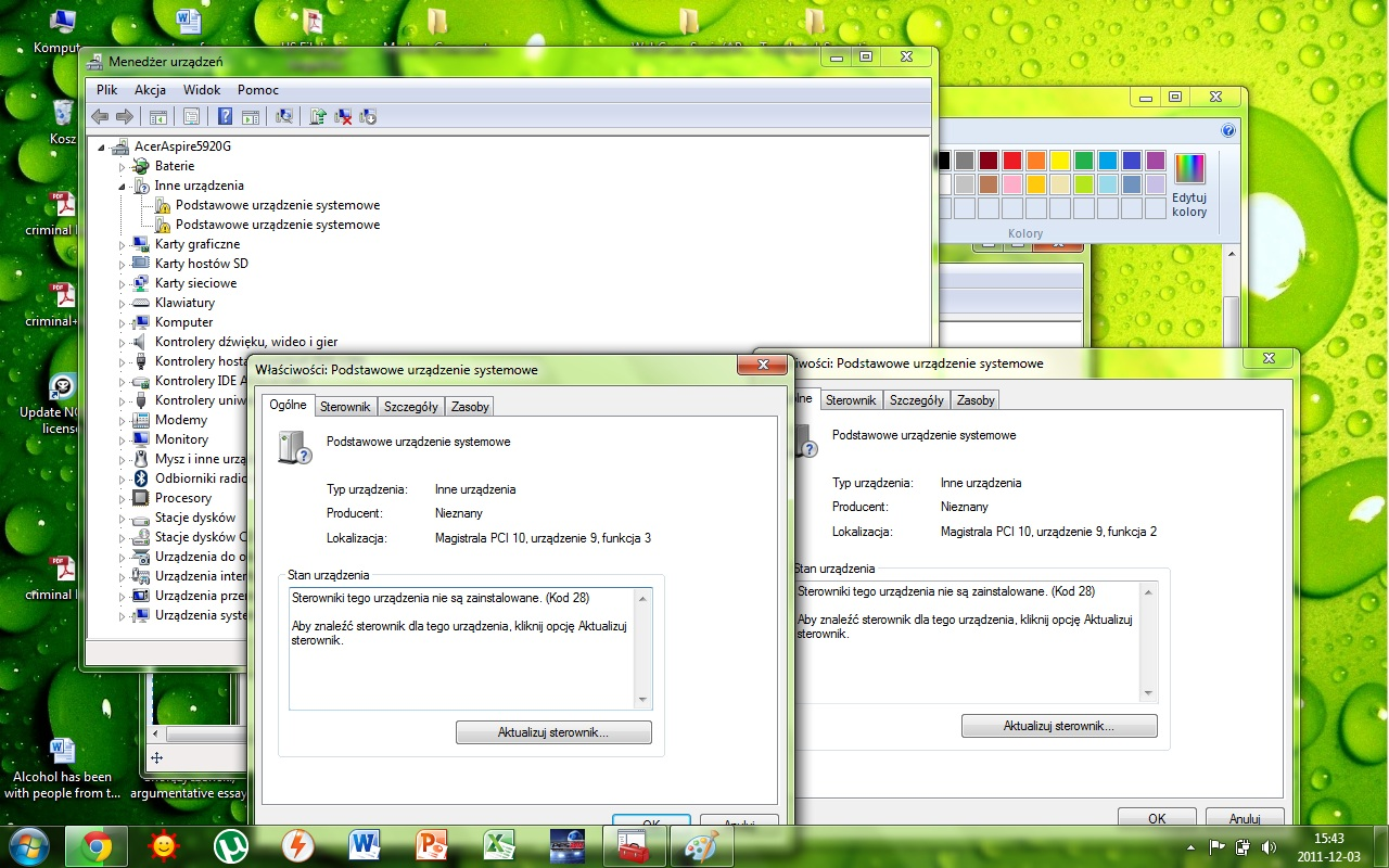 brakuj�ce sterowniki acer 5920G, windows 7 x64