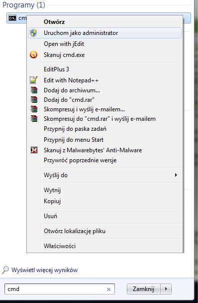 Resetowanie/usuwanie has�a administratora Windows 7