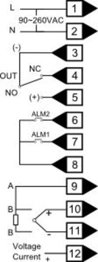 regulator temperatury pieca do ceramiki, schemat pod��czenia.