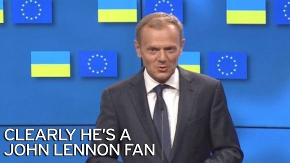 The Beatles Polska: Donald Tusk cytuje Johna Lennona w przesłaniu dla Brytyjczyków przed szczytem w Brukseli