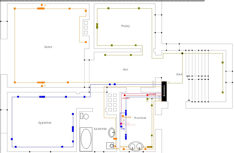 Instalacja elektryczna w domku dwurodzinnym - pro�ba o ocen�