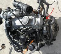 [VW GOLF IV 1.9TDI] - Czujnik temperatury przy termostacie