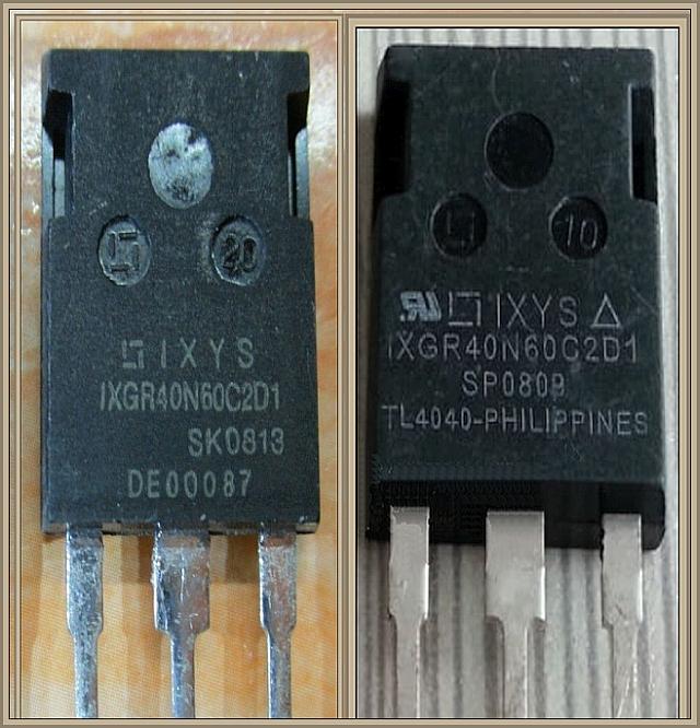Płyta Indukcyjna AEG - Pytanie o zamienniki tranzystorów IXYS