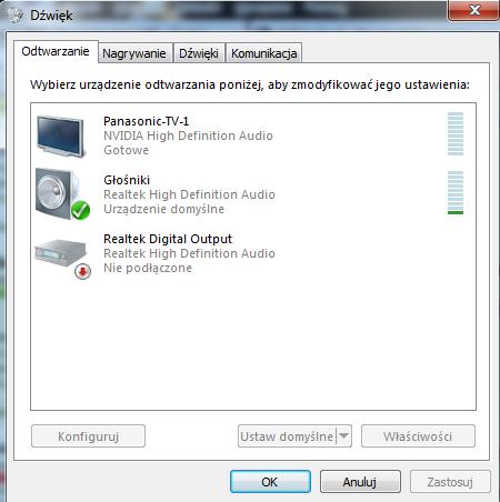 Dell l702x + dvd LG - brak d�wi�ku przez SPDIF