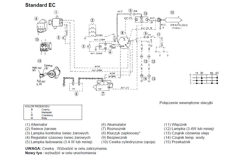 Ci�gniczek Kubota B2100 - Brak �adowania, zasilania na panel