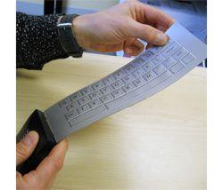 Cienka, polimerowa klawiatura z wibruj�cymi i wydaj�cymi d�wi�ki klawiszami