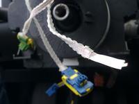 Prze��cznik zespolony, przerwany kabel. Peugeot 307