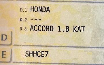 Honda Accord CE7 '97 1.8i - Wymiana stacyjki a zabezpieczenia