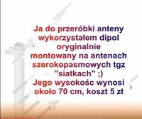 Antena aktywna lub Bierna DVB-T do odbioru MUX-8 (polaryzacja V pionowa) 10kW