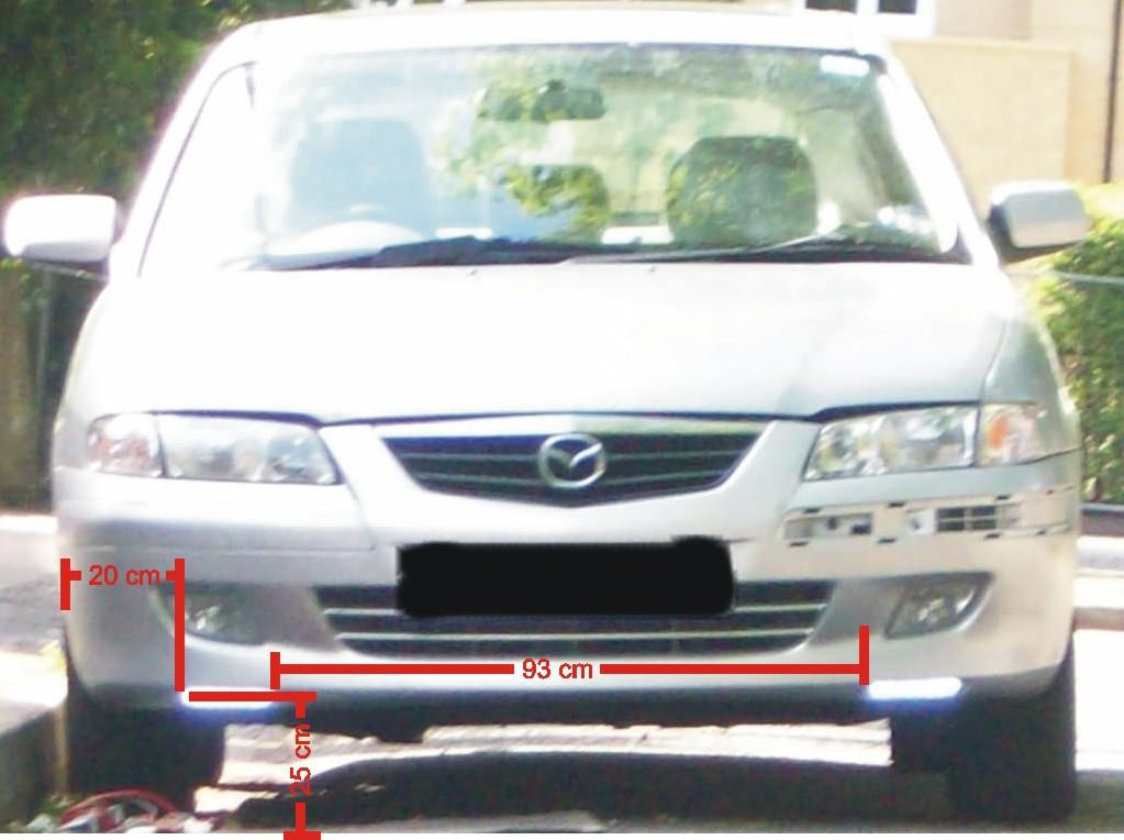 LED dzienne w samochodzie