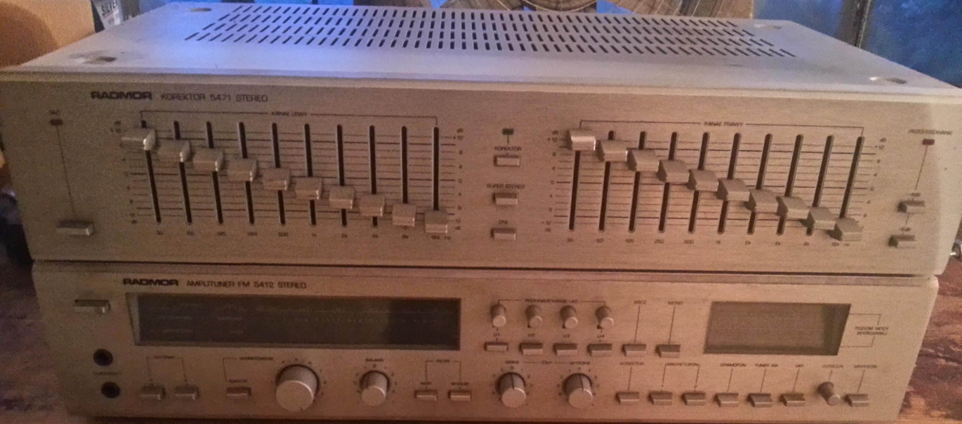 [Sprzedam] Radmor FM 5412 + 5471