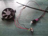Potencjometr + dioda + wiatrak a 12V